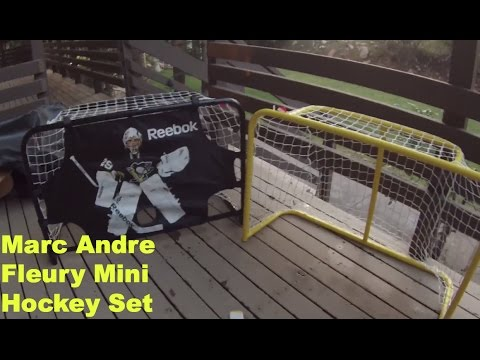 Marc Andre Fleury Mini Hockey Nets Unboxing and Review