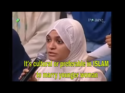 Dr Zakir Naik 2017| It's cultural or preferable in ISLAM to marry younger woman- Peace TV on Dish TV