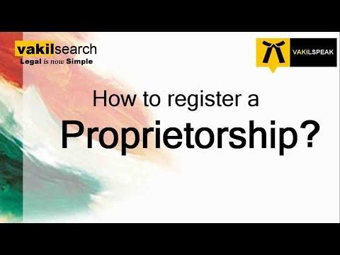 How to register a Proprietorship?