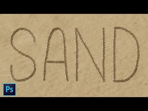 Photoshop Tutorial : Sand Text Effect !