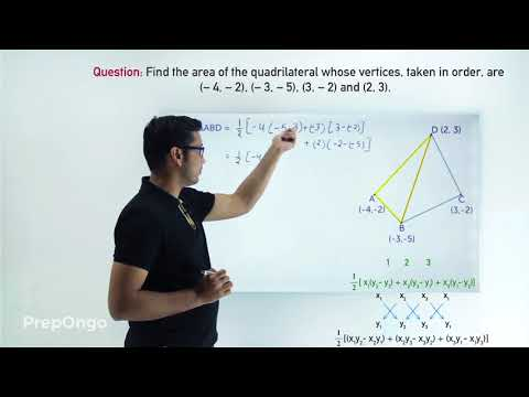 Finding the area of a quadrilateral