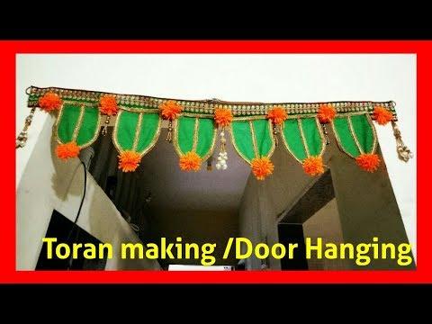 How to make Toran / Door hanging at home for Diwali festival | DIY home decoration idea