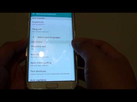 Samsung Galaxy S6 Edge: How to Clear Keyboard Personalized Data