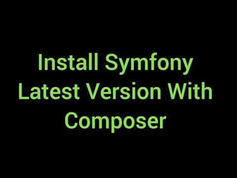 Install Symfony Latest Version With Composer