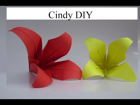 How to make easy origami Flower? Paper craft Tutorial 2017 | Cindy DIY