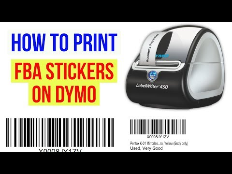 HOW TO PRINT AMAZON FBA Labels / Stickers on a DYMO / ZEBRA Label Thermal Printer (e.g. Writer 450)