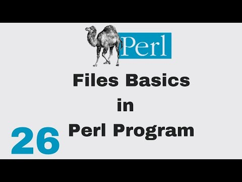 Perl Script Basic Tutorial 26 Files Basics