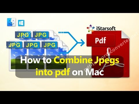 How to Combine Jpegs into pdf on Mac