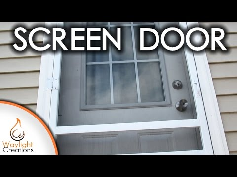 Easy DIY Wood Screen Door