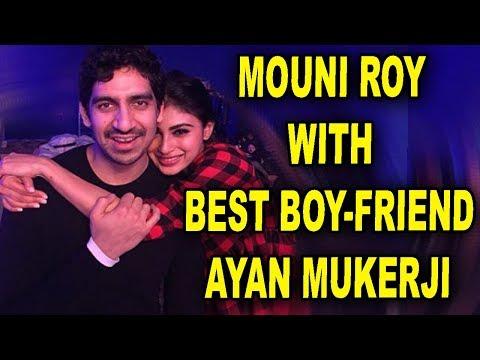 Mouni Roy poses with 'BestBoy-friend' Ayan Mukerji on sets of 'Brahmastra'