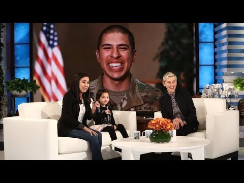 Ellen Surprises Military Mom and Daughter