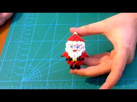 3D Origami small Santa Claus tutorial    DIY paper small Santa Claus