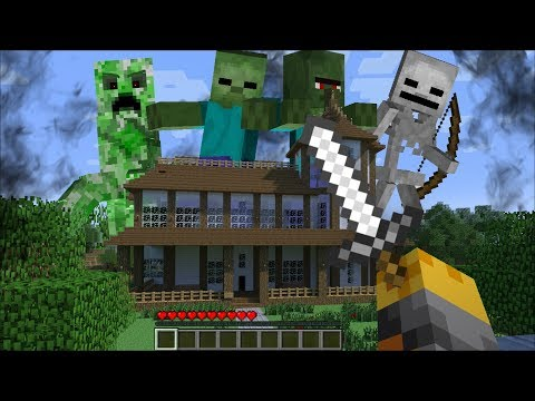 GIANT MOB TITAN APPEAR IN MY HOUSE IN MINECRAFT !! Minecraft Mods