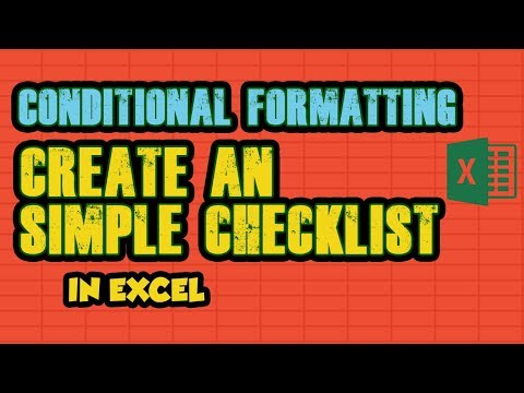 4.CONDITIONAL FORMATTING || Create an Simple CHECKLIST
