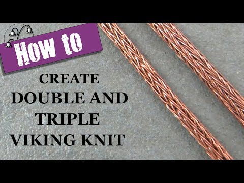 How to Create Double and Triple Viking Knit
