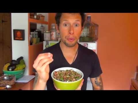 Sprouted Quinoa Tabouli Salad: Vegan Raw Food Recipe