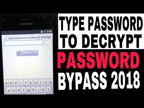 Sony Xperia M  C1904,  Type Password To Decrypt Storage How To Bypass (2018)