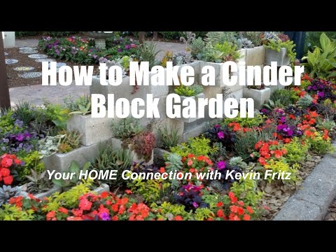 How to Make Privacy Cinder Block Garden Wall | Kevin Fritz MLO# 220254