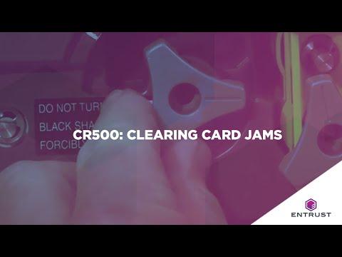 Entrust Datacard CR500  Clearing Card Jams Video