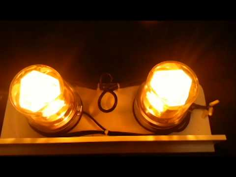 North American Signal Co BBP ACA signal beacon light set