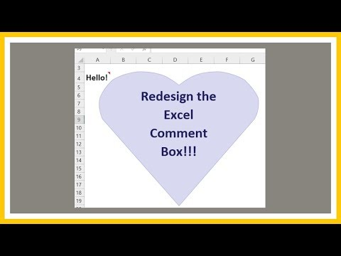 How to Design the Comment Box in Excel - Tutorial