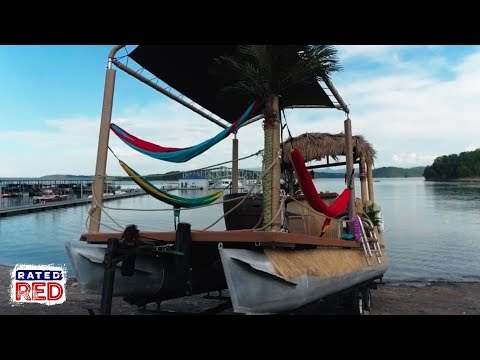 We Build a Tiki Party Pontoon Boat: Part 1/4