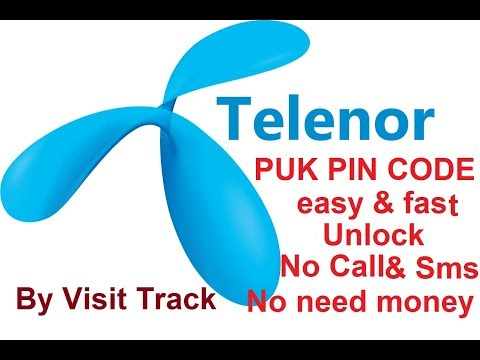 TELENOR PIN PUK CODE Unlock
