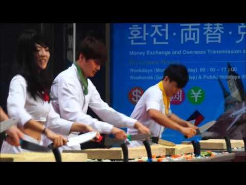 Nanta Musical Cookin Kitchen Knives Performance in Myeongdong (난타) Seoul, Korea