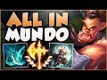 STOP PLAYING MUNDO WRONG MEGACRIT MUNDO IS ACTUALLY LEGIT MUNDO TOP GAMEPLAY League Of Legends