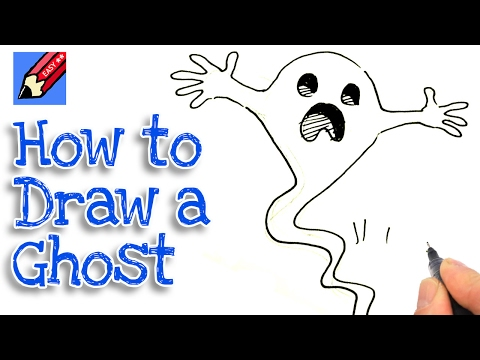 How to draw a Spooky Ghost Real Easy