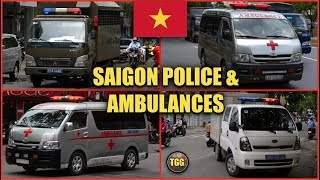 [Vietnam] Police Trucks & Ambulances Responding Siren & Lights!