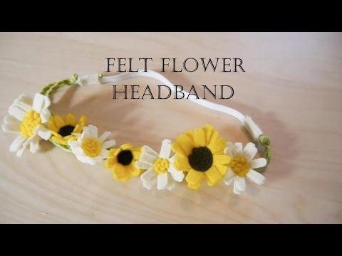 How to make felt flower headband