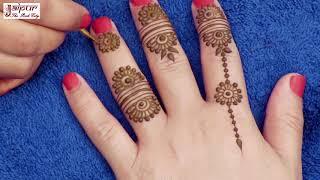 Latest mehndi design for Hands | Easy Jewelry mehndi design for stylish girls | henna tattoo #154