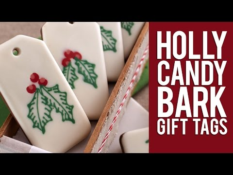 How to Make Christmas Candy Bark Gift Tags