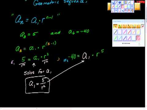 Finding a Missing Term of a Geometric Sequence.