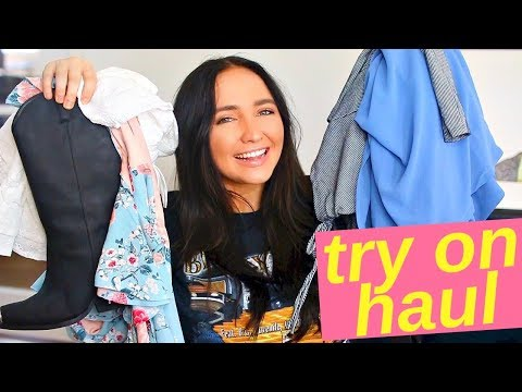 HUGE spring try on haul   urban outfitters fashion nova and more