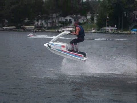Stunting on Stand up jet skis