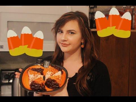 Halloween Candy Corn Rice Krispy Treats | THE SPOOKENING