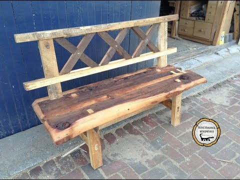 Woodworking : Rustic Reclaimed Wood Bench