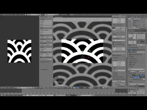 Creating seamless art deco texture in Blender - Tip of the Week
