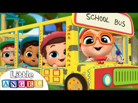 Xxx Mp4 Wheels On The Bus At School Learning Arts And Crafts Kids Songs And Nursery Rhymes Little Angel 3gp Sex