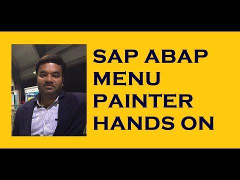 SAP ABAP Menu Painter Project