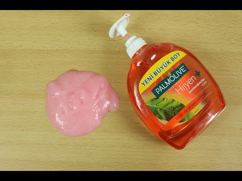 How to Make Slime Palmolive Hand Soap,Hand Soap and Salt Slime, No Glue, No Borax