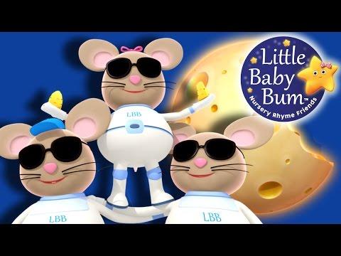 Three Blind Mice | Nursery Rhymes | Original Version By LittleBabyBum!