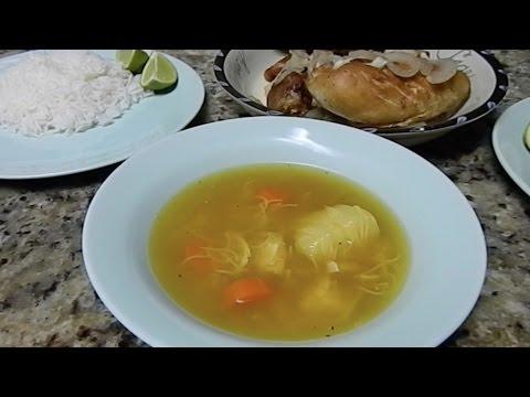 Sopa de Pollo Cubana  (Cuban chicken noodle soup)  Easy and Delicious RECIPE!