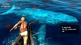Assassin's Creed 4 All Harpooning Activities & The White Whale ( Moby Dick )