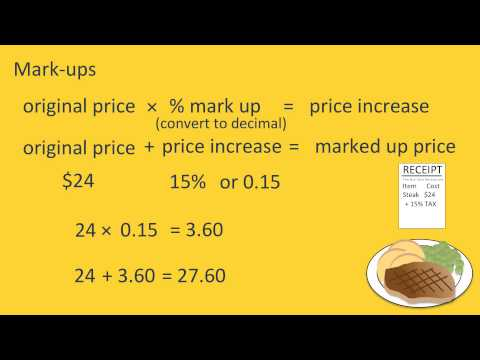Markup and Discounts