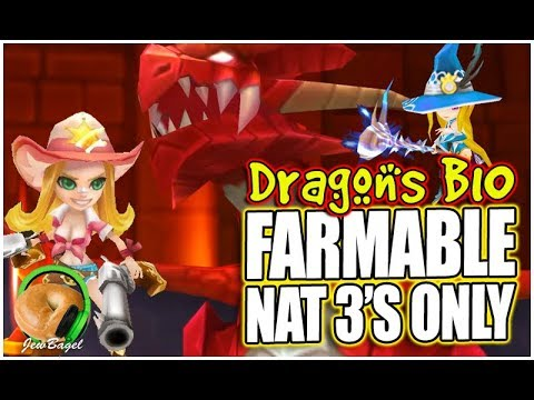 SUMMONERS WAR: Dragons B10 - *FARMABLE NAT 3'S ONLY*