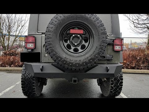 HOW TO INSTALL TERAFLEX HD HINGED TIRE CARRIER WITH ADJUSTABLE SPARE JEEP WRANGLER JK
