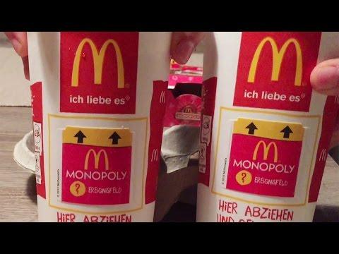 Surprise Unboxing Monopoly Xmas McDonald's Instant Win 24 Stickers